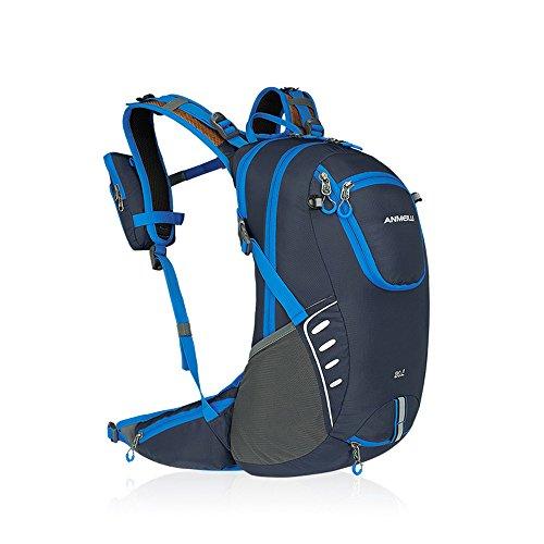 Imagen de  para bicicleta con funda impermeable de nailon 20l luz  con funda para rueda de escalada y deportes de exterior de deportes, azul