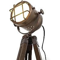 Copper finish antique tripod lamp portable office ligting décor low floor lamps