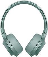 Sony WHH800 Cuffie Over-Hear Stereo, Bluetooth, Hi-Res Audio, con Microfono Integrato, Quick Charge, Colore Verde
