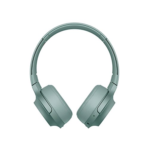 Sony WHH800 Cuffie Over-Hear Stereo, Bluetooth, Hi-Res Audio, con Microfono Integrato, Quick Charge, Colore Verde