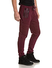 Sixth June - Pantalon homme molleton jogging bordeau