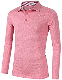 2793be9a8f5 Clearlove Men s Solid Colour Casual Golf Tops Polo Shirts