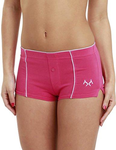 LisaModa Remixx Damen Boxershorts 4er Pack Stretch Baumwolle pink Größe L 44/46