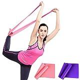 Naturel Latex Elastique Bandes d'exercice, DD Yoga Physiothérapie Fitness Stretch Entraînement Musculaire Pas de Résistance Bandes