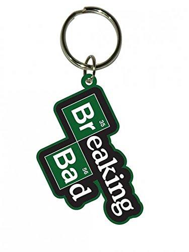 Preisvergleich Produktbild Breaking Bad - Logo - Gummi Schlüsselanhänger Keyring - Größe ca. 4,5x6 cm