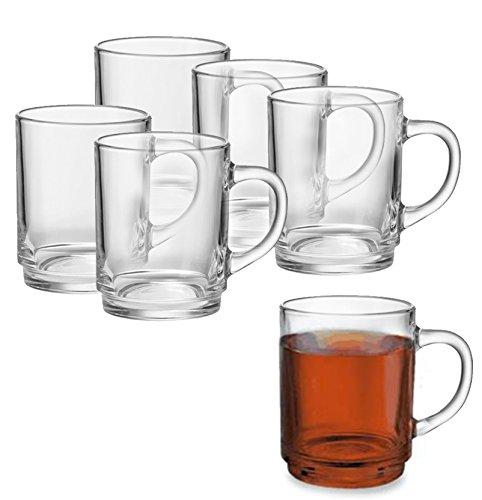 6er oder 12er Teeglas- Set mit oder ohne Tassenbaum für Kalt - und Heißgetränke, Grog- Glühweingläser, Hitzebeständig, Spülmaschinengeeignet, Teebecher, Kaffeebecher, Cappuccino, Milchkaffee, Tee Glas Geschirr (6er Set)