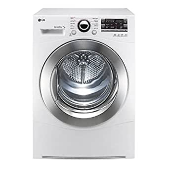 LG RC7066A2Z - freestanding - front-loading - 7kg -B - white - tumble dryer (freestanding, front-loading, condensation, white, buttons, rotation, right)
