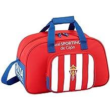 Safta Bolsa De Deporte Real Sporting De Gijon Oficial 400x230x240mm
