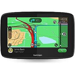 TomTom GO ESSENTIAL 6'' (6 Pouces) - GPS Auto - Cartographie Europe 49 Pays, Trafic à Vie via Smartphone, 6 mois d'essai aux zones de Danger, Appel Mains-Libres, TomTom Road Trips, mises à jour Wi-Fi