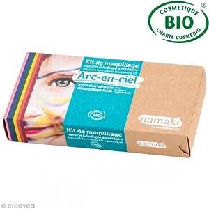 namaki K8AEC1 - Kit di trucchi per travestimenti, unisex, 8 colori disponibili: giallo, rosa, rosso, blu, arancione, verde, nero, bianco