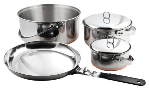 Chinook Ridgeline 6 Piece Stainless Camp Cookset by Chinook - 6 Piece Cookset