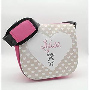 Kindergartentasche mit Namen für Mädchen – Persönliches Geschenk zum Geburtstag, zum Kitastart, zu Weihnachten uvm.