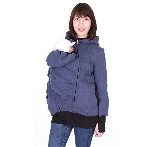 """Milchshake - 3in1 Tragejacke aus warmem Sweatstoff - """"Charlie"""" - jeans - Größe XL"""