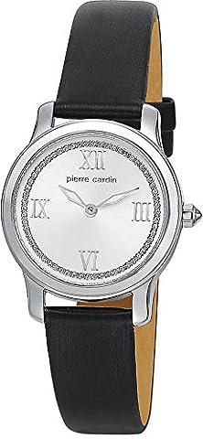 Pierre Cardin - Montre Femme - Quartz - Analogique - Aiguilles Lumineuses - Bracelet Cuir Noir