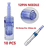 Dr Pen Needles Cartridges Dr Pen Cartouche Microneedling Dr Pen Ultima A6 Derma pen Needle Electrique Professionnel Derma pen Dr pen 12Pin/36Pin/42Pin Cartridges par Hilareco (12 aiguilles 10 pcs)