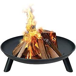 HENGMEI Brasero de Jardin Fire de Brasero en fonte diamètre 78 cm Poêle à Bois de Jardin ou terrasse