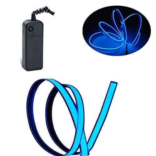 Lychee Flexibel 1M 3ft Neon Glowing Strobing Electroluminescent Wire mit 3 Modis für Werbung und Party (Blau) -