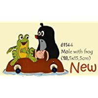 The Small Mole with Frog 61144 Childrens Clothes Rack 2 Hooks 7.09""