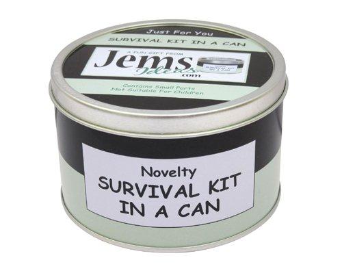 Kit de supervivencia en una lata, Regalo divertido y novedoso para amigos, jefes o compañeros de trabajo, regalo para jubilación y tarjeta, todo en uno, Personalizable, Black/Mint, Approx 10cm x 6cm