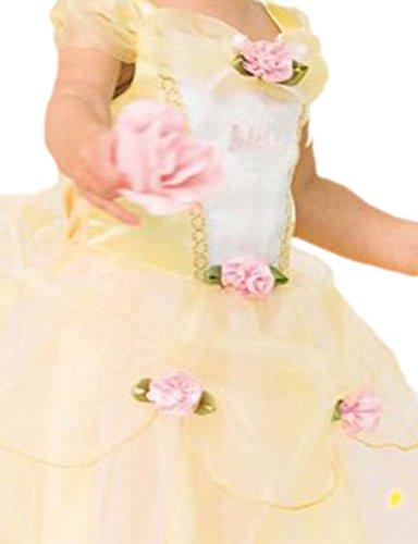 Halloweenia - Baby - Mädchen Süßes Belle-Kostüm, Prinzessin, Disney-Kostüm, Fasching, M, Gelb