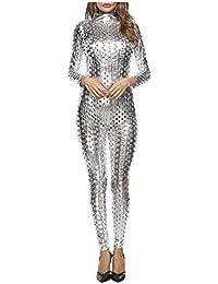 7a9058681903b Jumpsuit Mujer Verano Largos Traje Pantalón Elegantes Festivo Sin Mangas  Fuera del Clásico Hombro Playsuit Fashion