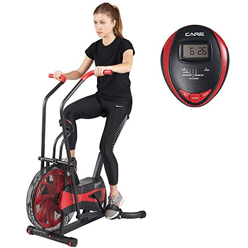 Pflege-Fitness - Airbike CA-700 - Airbike - Indoorbike mit Luftwiderstand - 6 Funktionen - 2 in 1 Ellipsentrainer