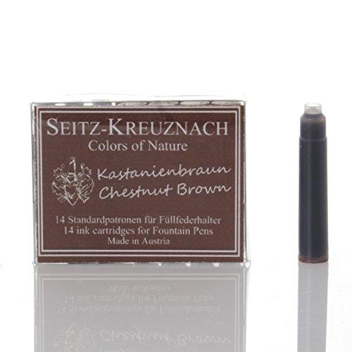 14 Tintenpatronen (Seitz-Kreuznach Tintenpatronen Kastanienbraun, 14 Patronen, Colors of Nature)