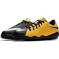 hot sales a2ebc ac496 Nike JR Hypervenomx Phelon III TF - Zapatillas de fútbol Sala, Unisex  Infantil, Naranja