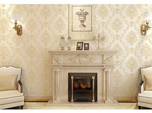 Europäische Vliestapete 3D Solid Relief, Tapeten Tapeten, Wohnzimmer, Tv Hintergrund Wand Voller Tapeten, Gelb