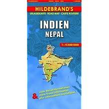 Carte routière : Indien, Nepal