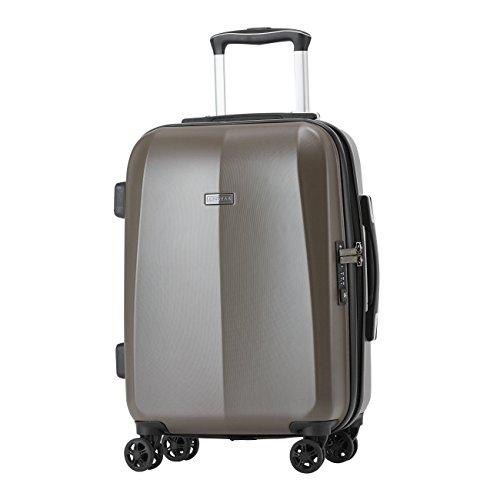"""100% Polycarbonat Abistab® Kaiseki Premium Hartschalen Koffer L-71cm(28"""") Stone Grey aus PC Kratzfest Trolley Suitcase Reisekoffer 4 Doppelräder TSA Schloss"""