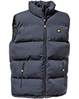 Caterpillar Mens Navy Blue Body Warmer Quilted Insulated Workwear Vest C430
