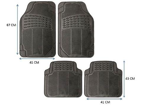 TOYOTA LAND CRUISER (2003-2009) Heavy Duty Rubber Car Floor Mat Protectors Set of 4