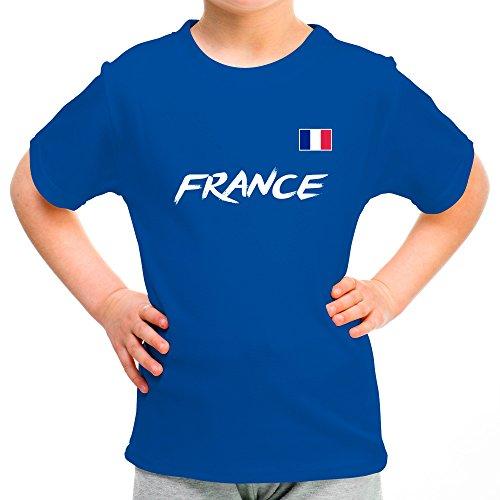 Lolapix Camiseta seleccion de Futbol Personalizada con Nombre y número. Camiseta de algodón para niños. Elige tu seleccion. Francia