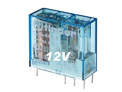 Rele Serie 40Standard 12VDC 1circuitosconmutados 6Pin 16A mini-rele Leiterplatte 29x 25x 12.4mm Finder 40.61.9.012.0000 -