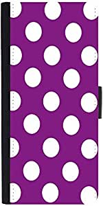 Snoogg Purple Polka Dot Designer Protective Phone Flip Case Cover For Samsung Galaxy A8