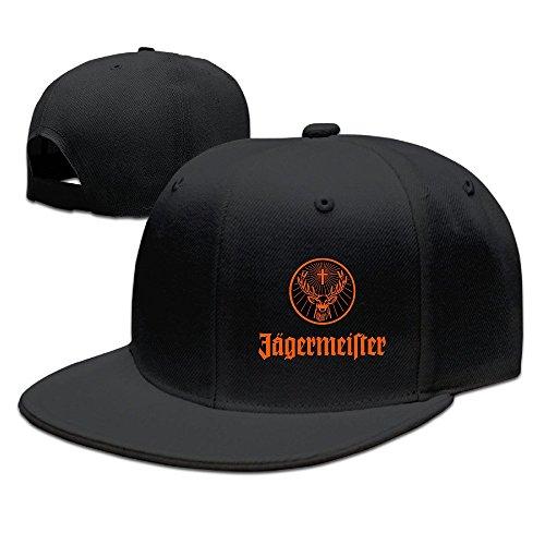 hittings-jagermeister-logo-flat-baseball-caps-hats-for-unisex-black