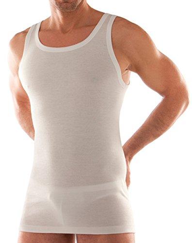 Liabel canotta spalla larga uomo art. 03050/223 vogatore in filo di scozia - confezione da 3 pezzi in colore bianco 4