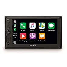 Sony XAV-AX1000 Media Receiver (6.2 Inch, with Bluetooth and Apple CarPlay) - Black