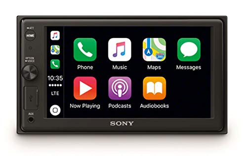 "Sony XAV-AX1000 SintoMonitor 2DIN, Display da 6.4"" Touch Screen, Apple CarPlay e Controllo Vocale, Bluetooth, Microfono Esterno Incluso, 4 x 55 W, USB (iPhone/iPod)"