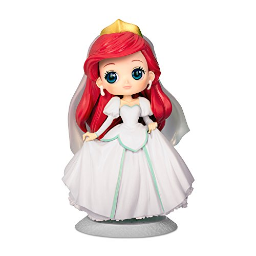 Figura de Colección Ariel 14cm Vestido de Novia Blanco - La Sirenita - Serie QPOSKET Banpresto Disney Characters Dreamy Style - Versión B