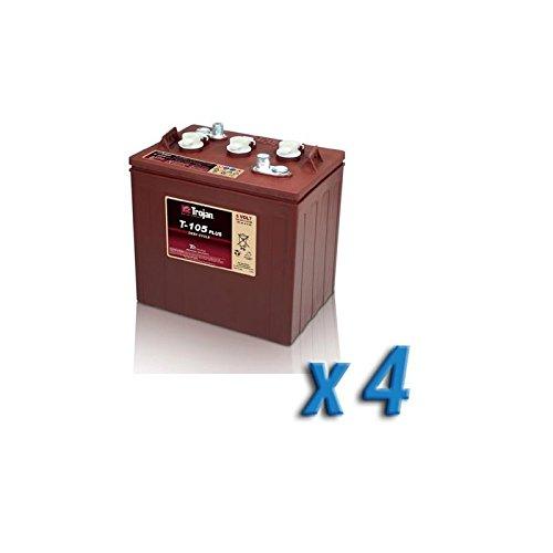 Akku 24V Photovoltaik Accumulation 4 x T-105 6V 225Ah Batterien Trojan (6 Batterie-deep Volt Cycle)