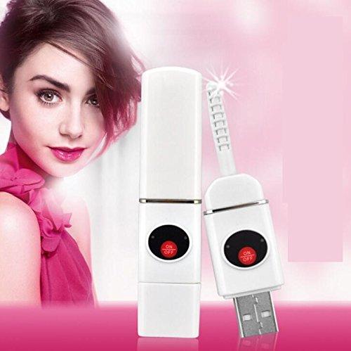 Unbekannt Elektrische Wimpernzange, USB, langlebig, beheizt, für Damen