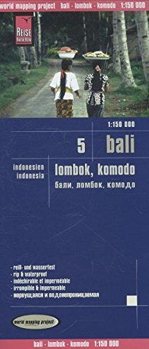 Indonesia 5:Bali, Lombok y Komodo, mapa impermeable de carreteras. Escala 1:150.000. Reise Know-How.