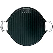 Algon AH110 Plancha de Cocina, 32 cm de diámetro, Inoxidable con Doble Cara,
