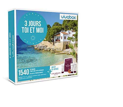 Vivabox - Coffret cadeau couple - 3 JOURS TOI ET MOI - 1540 séjours romantiques + 1...