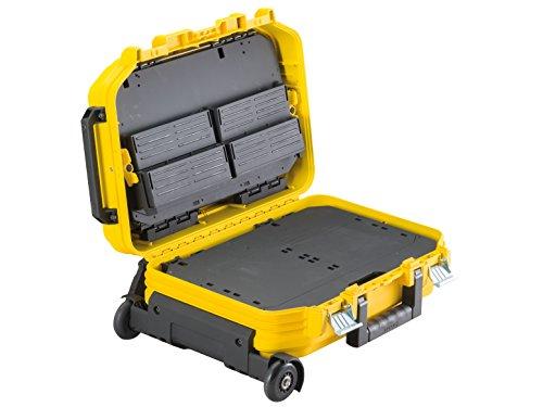 Stanley FatMax Werkzeugkoffer / Werkzeugbox (40x54x23.5cm, Werkzeugaufbewahrung mit Trolley und Teleskophandgriff, für Werkzeuge und Zubehör, fiberglasverstärkte Akkordeonstruktur) FMST1-72383 - 4