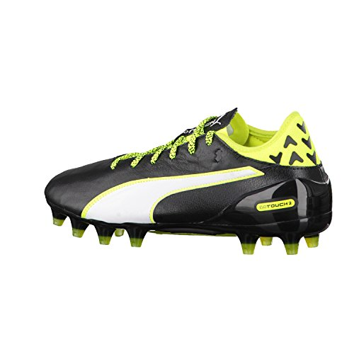 Puma Evotouch 2 Fg, Scarpe da Calcio Uomo black-white-safety yellow