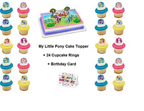 naufsatz für Cupcakes, 24-teilig, inkl. Geburtstagskarte ()