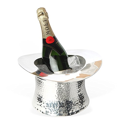 top hat silver plated wine & champagne (Hats Silver Top)